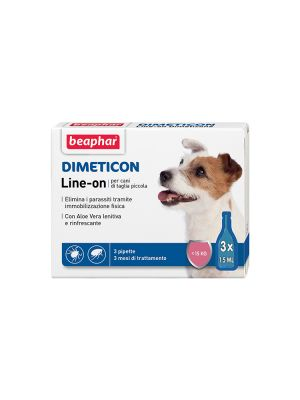 Beaphar Dimeticon - Line-On Cane Piccolo 3 pipette
