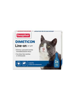 Beaphar Dimeticon - Line-On Gatto 3 pipette