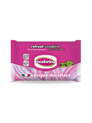 Inodorina Refresh Sensitive - 40 Salviette Detergenti - All'Acqua Micellare