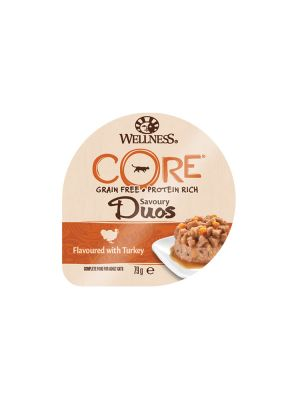 Wellness CORE Cat - Savoury Duos - Tacchino - 79 gr