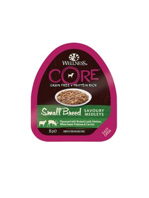 Wellness CORE Dog - Small Breed Medleys - con Agnello Brasato Cervo e Verdure - 85 gr