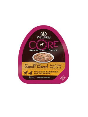 Wellness CORE Dog - Small Breed Medleys - con Pollo Arrosto Anatra e Verdure - 85 gr