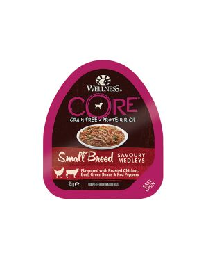 Wellness CORE Dog - Small Breed Medleys - con Pollo Arrosto Manzo e Verdure - 85 gr