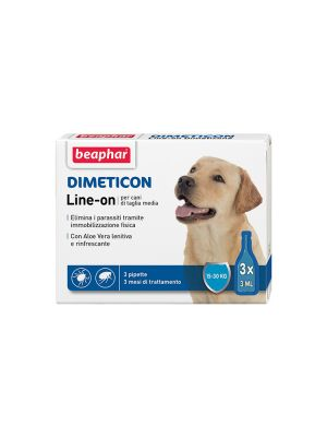 Beaphar Dimeticon - Line-On Cane Medio 3 pipette