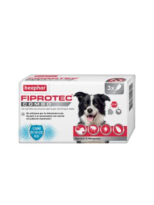 Beaphar Fiprotec Combo - Cane Medio 3 pipette