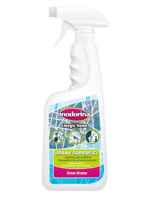 Inodorina Magic Home Spray - Detergente Superfici 750 ml - Profumazione Ocean Breeze