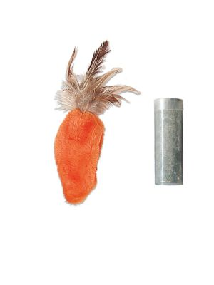 KONG Cat Refillable Catnip Feather Top Carrot