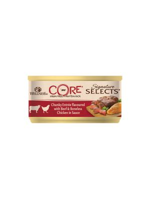 Wellness CORE Cat - Signature Selects - Bocconcini di Pollo con Manzo - 79 gr