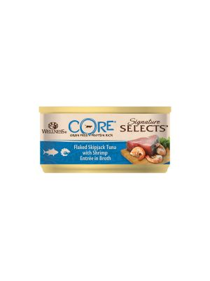 Wellness CORE Cat - Signature Selects - Fiocchi di Tonno e Gamberi - 79 gr