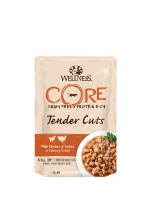 Wellness CORE Cat - Tender Cuts - con Pollo e Tacchino - 85 gr
